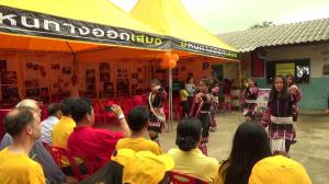 Traditional dancers welcomed the tour to the village of Mae Salong, in the mountains north of Chiang Rai, Thailand.