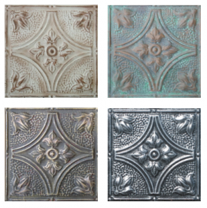 Plantation Charm, Copper Patina, Gothic Gold and Antique Pewter