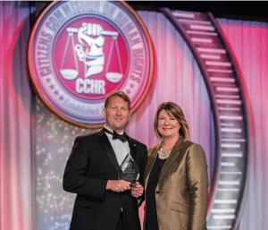 Diane Stein, President of CCHR Florida, presented the 2017 Humanitarian Award to Attorney Mr. Justin Drach