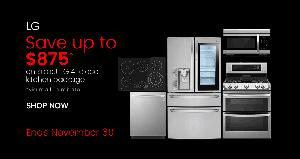 Save Up to $875 on a 4-Piece LG Kitchen Package at the Appliances Connection Cyber Monday Sale