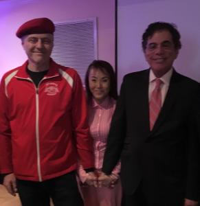 Dr. Joel Singer with Curtis Sliwa at Park Avenue Stem Cell