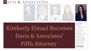 Kimberly Elmazi Becomes Davis & Associates' Newest Attorney