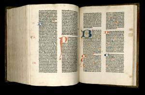 Gutenberg Bible, The Gutenberg Bible had a profound effect on the history of the printed book. Textually, it also had an influence on future editions of the Bible. It provided the model for several later editions, including the Great Bible and  King James Bible
