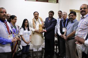 Indian Minister Culture and Tourism welcoming MageQuill at the opening of the Smart Indian Hackathon