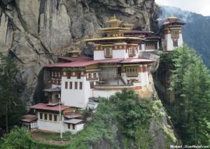 Tiger's nest (Taktsang) monastery in Paro Bhutan