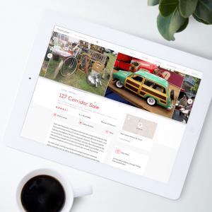 Fleamapket listing on iPad