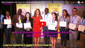 Merck Diabetes and Hypertension Awards winners 2017 receiving their awards at Merck Asia Africa Luminary at Cairo, Egypt