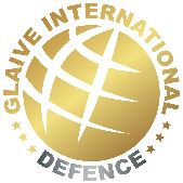"""Gloden globe with the wording """"Glaive internatinal Defence , wrapped around it"""