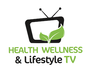 Green and black logo with tv of Health Wellness & Lifestyle TV