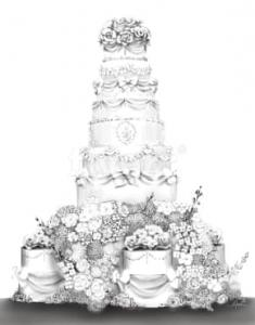 Historic Wedding Cake created by Sunshine Guitierez from La Puente, California