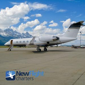 Gulfstream IV-SP with New Flight Charters at Jackson Hole Airport