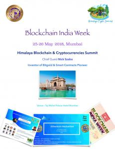 Himalaya Crypto Summit arrives in Mumbai ft. Nick Szabo 25-26 May 2018