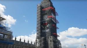 SteamHammerVR Advert on Big Ben - Westminster