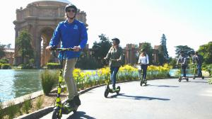 Electric Scooter Tours near the Palace of Fine Arts San Francisco