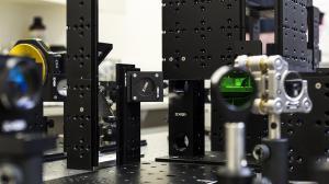 3DOptix in the lab during set up.