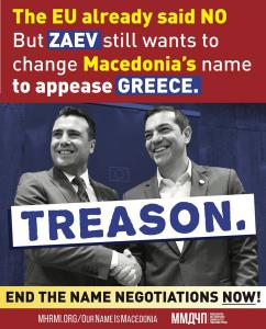 """Illegitimate anti-Macedonian """"Prime Minister"""" committing treason by trying to change Macedonia's name"""