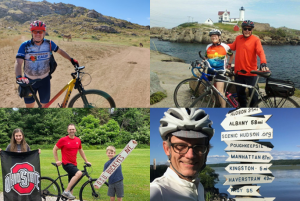 A photo of cyclists from the Trek Across Maine