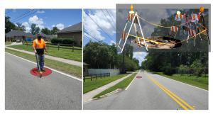 Electro Scan field crews match internal pipe defects with above ground subsidence to identify pre-sinkhole risk assessments.