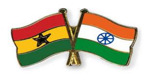 India and Ghana Flags