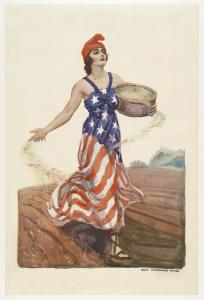 In 1918, James Montgomery Flagg created this illustration to inspire households to plant victory gardens.
