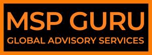 MSP GURU logo - colour orange letters on white background - MSP GURU Global Advisory Services