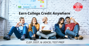 Save 50% on SpeeyPrep's Test Prep for CLEP™, DSST™, & UExcel™ Exams