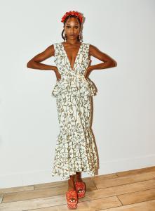 photo of model wearing Lola Elan dress
