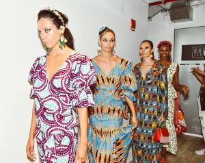 A photo of models wearing Lola Elan's collection at New York Fashion Week