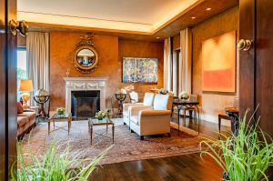Soaring ceilings and museum-quality walls are an impeccable backdrop for your art collection or family photos.