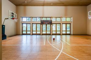 Interior basketball court at Arbor Hill.