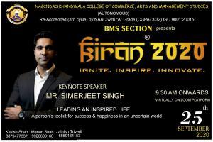 Nagindas Khandwala College invites Simerjeet Singh as Virtual Keynote Speaker