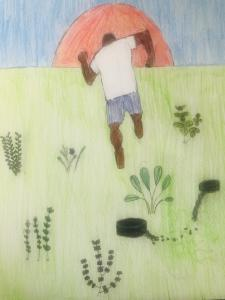 Youth artwork on freedom from slavery