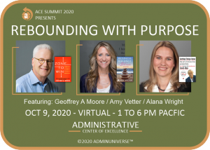 Rebounding with Purpose features Geoffrey A. Moore, Amy Vetter, Alana Wright