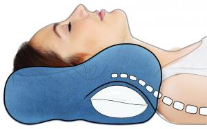 Align the spine while sleeping.  The neck support provides traction to the neck as well.