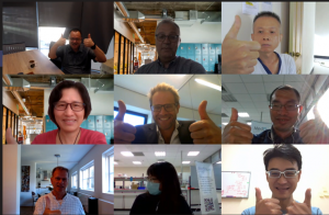 Video conference between RAPID Health Fall 2020 participants and organizers in Utrecht.