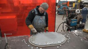 Industrial Resources Manhole Cover Waterjet