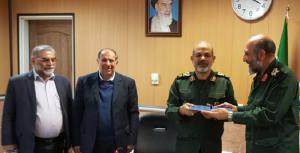 From left: Mohsen Fakhrizadeh Mahabadi, former Defense Minister, Mohammad Najjar, Brig. Gen. Ahmad Vahidi, the head of National Defense University's Research Instittue, and Brig. Gen. Na'man Gholami, acting commander of the Paramilitary Bassij