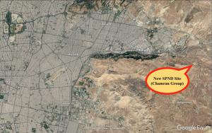 Location of new site of SPND east of Tehran
