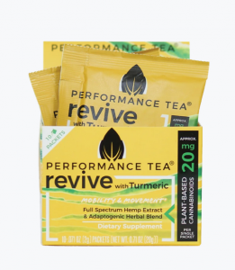 PT Revive combines 20 mg per serving of organic full-spectrum hemp extract derived phytocannabinoids with green tea and turmeric for their abundant health-promoting qualities.