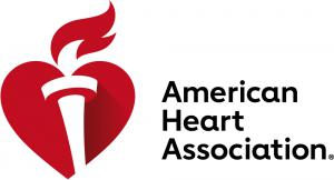 Heart and Torch with American Heart Association text