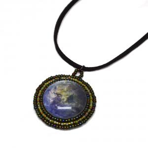 Animated Earth Pendant Necklace