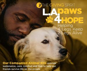 The Giving Spirit, Helping 4 Legs Keep 2 Legs Alive