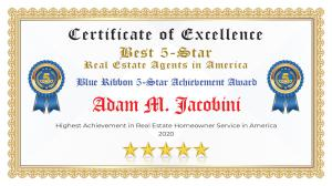 Adam Jacobini Certificate of Excellence Reading PA