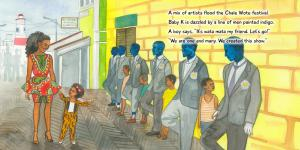 sample page of the book Where is Baby K? Afrika – a beautiful story which highlights meaningful teaching moments for cultural awareness