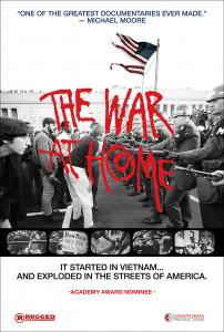 The War at Home Poster featuring protesting students squared off against the National Guard.