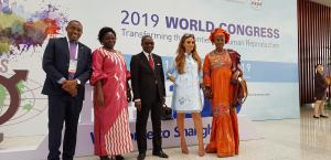 Dr. Rasha Kelej, CEO Merck Foundation & President of Merck More than a Mother with Minister of Health of Uganda, Hon. Sarah Opendi and the Vice President of The Gambia, H. E. Isatou Touray. Minister of Health of Burundi and Vice Minister of Republic of Co