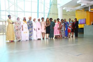 Family photo of Merck Foundation First Ladies Initiative (MFFLI) Summit 2019 (L to R) H.E. First Ladies of Burundi, Mauritania, Guinea Conakry, Sierra Leone, Gambia, Niger, Malawi, Merck Foundation CEO, Mozambique, Zimbabwe, Central African Republic, Cong