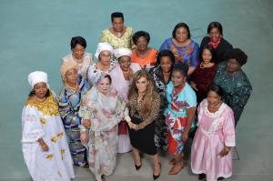 Dr. Rasha Kelej, CEO Merck Foundation & President of Merck More than a Mother with H.E. First Ladies of Mauritania, Namibia, Guinea Conakry, Zimbabwe, Gambia, Malawi, Sierra Leone, Liberia, Botswana, Niger, Central African Republic, Burundi, Mozambique, C