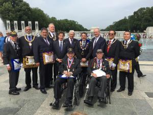 Along with Former Grand Masters of Washington, D.C.