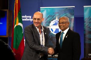 The Maldives will enter into an agreement with the Blue Prosperity Coalition in order to work together to protect 20 percent of the Maldives ocean habitat.